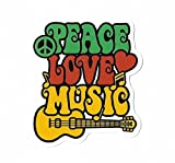 Aufkleber Reggae by greestick Sticker Gansha Bomb einzeln Peace Love Music Pickerl farbig Vinyl Decal