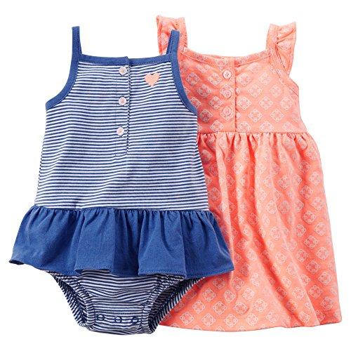 carters-babykleid-spieler-sommer-mdchen-2-stck-kleid-girl-dress-mdchen-62-68-orange-blau