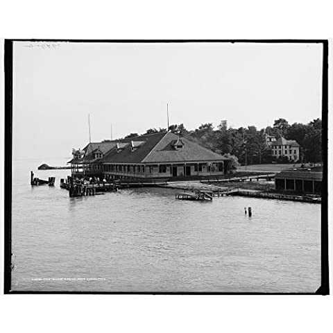 Photo: Stag Island casino,Saint Clair River,Port Huron,Michigan,MI,Ontario,Canada,c1906 by