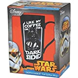 original Star Wars Krieg der Sterne Keramiktasse Kaffeetasse Becher DARTH VADER Tasse LATTE DARK SIDE schwarz HMB