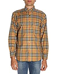 Burberry Hombre 8001236 Beige Algodon Camisa