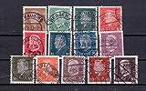 Briefmarken Deutsches Reich 1928, Mi.Nr. 410-422, Reichspräsidenten (I) Ebert und Hindenburg, Gestempelt