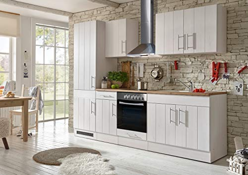Respekta cucina angolo cucina blocco cucina landhausküche cucina incasso cucina completa 270 cm bianco
