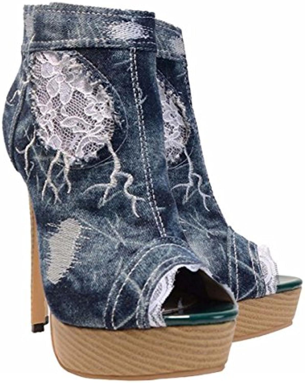 GONGFF Sandali Da Donna Estivi Estivi Estivi Sandali Da Cowboy High Water Taiwan Fish Mouth scarpe Jeans In Pizzo Scarpe Casual... | Bel Colore  | Uomini/Donna Scarpa  afb7d5
