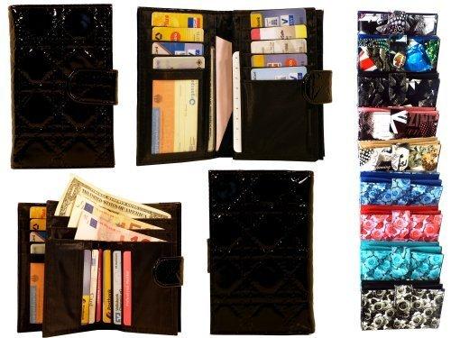 mywallet-luna-modische-riegel-geldborse-mit-15-kartenfachern-verschiedene-farben-und-designs-stitche