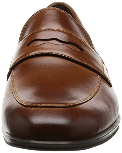 Rockport Style Connected Penny, Mocassini Uomo Brown (brown Leather)