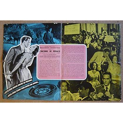Dossier de presse de L'Inconnu de Monaco (24 heures de la vie d'une femme) (1952) – Film de Victor Saville avec Oberon, Todd – Photos N&B + résumé du scénario - État moyen.