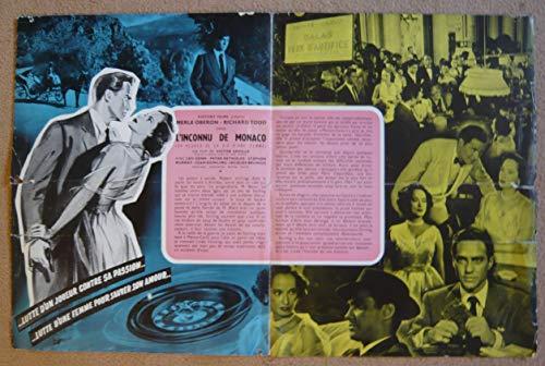 Dossier de presse de L'Inconnu de Monaco (24 heures de la vie d'une femme) (1952) – Film de Victor Saville avec Oberon, Todd – Photos N&B + résumé du scénario - État moyen. par Victor Saville