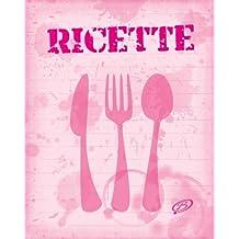 Ricette: Copertina colore rosa - Quaderno per scrivere 100 ricette