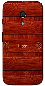 Aakrti Back cover With Wood design Printed For Smart Phone Model : HTC DESIRE 830.Name Hiten (Hindu Boy ) Will be replaced with Your desired Name