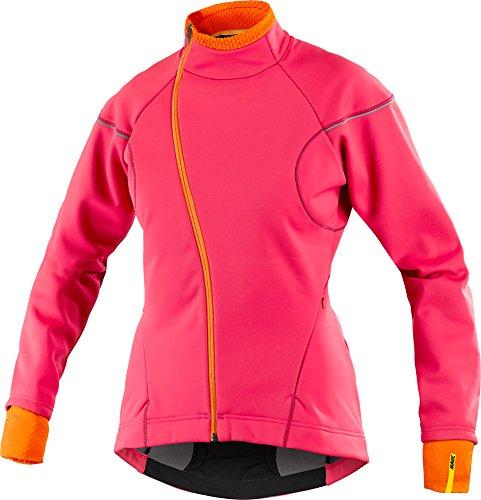 Mavic Ksyrium Elite Thermo Damen Winter Fahrrad Softshell Jacke rot