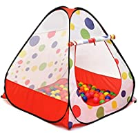 Ball House with 100 Balls, Kids Tent, Ball Pit, Play House Pops up No Assembly Required, Great Gift Idea