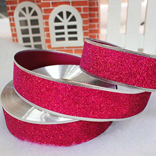 Hunpta Frohe Weihnachten Satinband Hochzeitsfest Dekoration Einladung Geschenkverpackung 200cm * 5cm (hot pink) - Pink Hot Geburtstag Einladungen