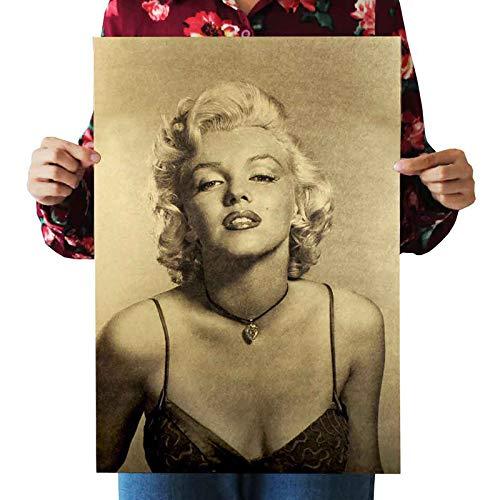 9c7bae870d Arte de la Pared, Marilyn Monroe Retro Vintage Moderno Kraft Paper Poster  Arte Moda B