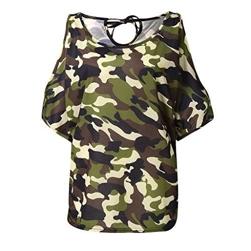 Alaso Damen Plus Size Tops Bluse Casual Rundhalsausschnitt Schulterfrei Slim Print Lose Bluse Hemd Pullover Übergröße Sweatshirt Oberteil Tops, S-5XL