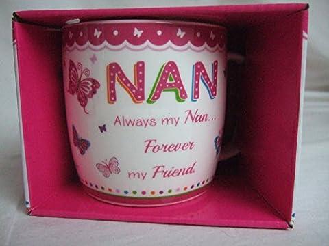 Nan Pink Butterfly Pattern Sentimental Mug by BCBGMAXAZRIA