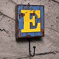 Wall Hook Decorative Vintage Coats Creative Key Holder Door Hanger Chic Unique Rack E alphabet letter