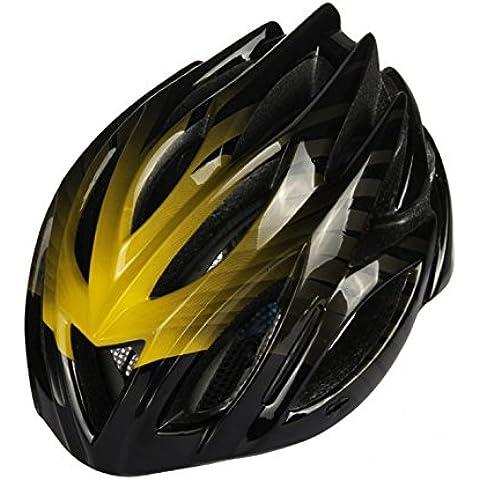 TKWMDZH® Casco Ciclismo de carretera de montaña neutro adecuado para hombres y mujeres 53 ~ 60cm de circunferencia central , yellow