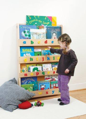 Tidy Books - Das originale Kinder-Bücherregal mit 3D Alphabet präsentiert die Buchcover nach vorne