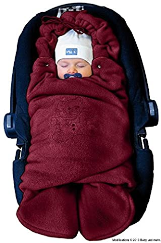 ByBoom® - Swaddling Wrap, Car Seat and Pram Blanket for Winter, Universal for infant and child car seats (e.g. Maxi-Cosi, Britax), for a pushchair/stroller, buggy or baby bed; THE ORIGINAL WITH THE BEAR,