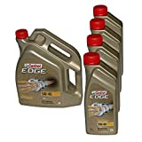 4x 1 L + 5 L = 9 Liter Castrol EDGE Titanium FST™ 5W-40 Motor-Öl Motoren-Öl; Spezifikationen/Freigaben: ACEA C3; API SN/CF; VW 502 00 / 505 00 / 505 01; BMW Longlife-04; MB-Freigabe 226.5 / 229.31 /