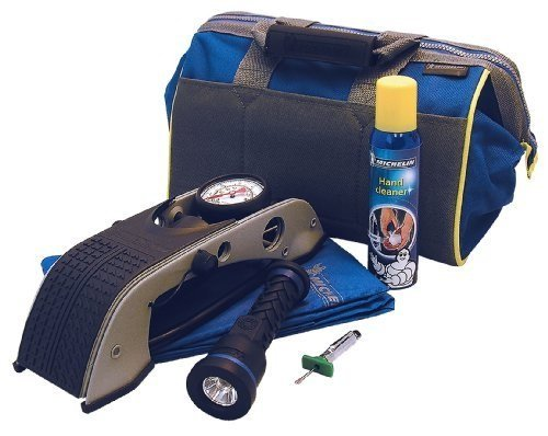 michelin-foot-pump-torch-rain-jacket-tread-deepth-gauge-hand-cleaner-storage-bag