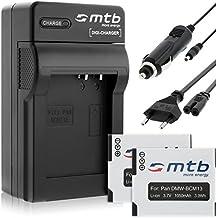 2x Baterías DMW-BCM13 + Cargador para Panasonic Lumix DMC-FT5 TZ37 TZ40 TZ41 TS5 ZS30... ver lista!