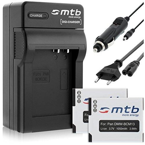2 Akkus + Ladegerät DMW-BCM13 für Panasonic Lumix DMC-FT5 TZ37 TZ40 TZ41 TS5 ZS30
