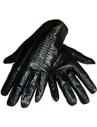 Gants homme de ville en cuir Noir