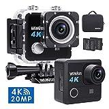 Caméra Sport, WiMiUS L1 Camera de Sport WIFI 4K Caméra d'Action HD 20MP Etanche...