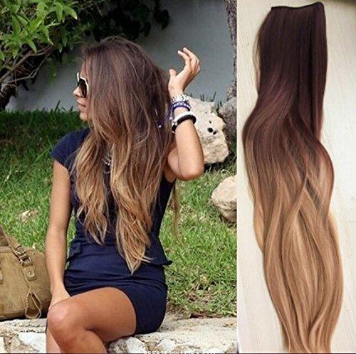 Un clip de pieza en las extensiones de cabello