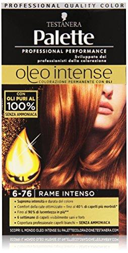 Testanera - Palette, Colorazione Permanente con Oli, 6-76 Rame Intenso