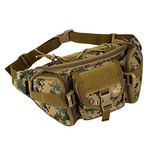 Außenreittaschen Reisetaschen Berglaufgeldbeutel Freizeitbeutel Brusttasche Mann Tasche,Orange JungleDigital