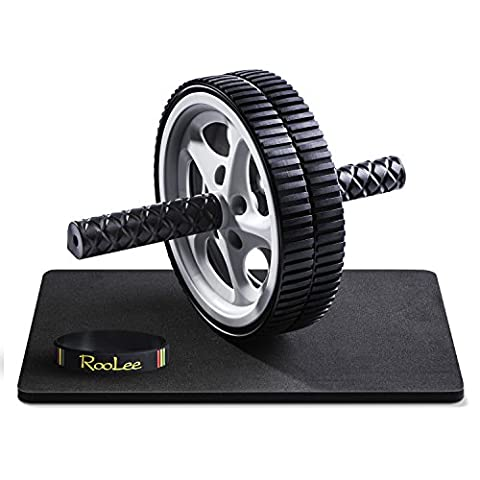 RooLee Dual AB Wheel Roller with Thick Knee Mat, Ergonomic