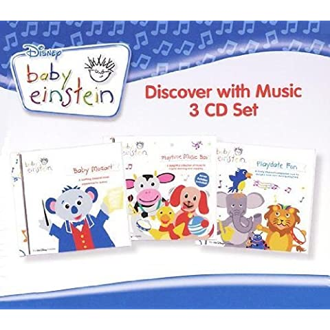 Baby Einstein - Discover with Music (3 CD Set) 56 Songs - Includes Baby Mozart, Playtime Music Box-A Concert for Little Ears, Playdate Fun-A Concert for Little Ears by Baby Einstein