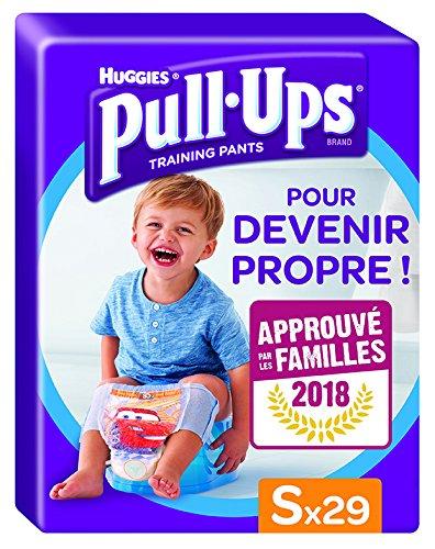 Huggies Pull-Ups Garçon Taille 4/Small (8-15 kg), Couche-culotte d'Apprentissage de la Propreté Disney Cars x29 Culottes