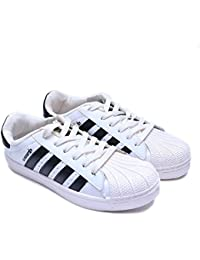 Shoe Swagger Men's White & Black Casual Canvas Sneaker / Sports / Running Shoes - B07CHY1ZM5