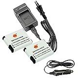 DSTE®(2 Pack)Ersatz Batterie und DC121E Reise Ladegerät Kit für GoPro AHDBT-002 HERO GoPro HERO2 Digital Kamera als GoPro AHDBT-001 AHDBT-002