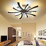 Lampen LED azanaz Deckenleuchte Strahler Spot Beleuchtung Wohnzimmer Camera aus Metall quadratisch Lampe Schlafzimmer Esszimmer Licht modernes Licht Kurve 3000K-6000K Remote Dimmer [Energieklasse A + +]