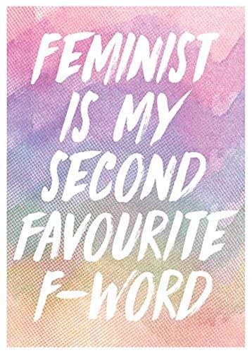 Hunnry Feminista es mi Segundo Favorito Pintura de Hierro F-Word Retro Personalizado Metal Art Signo de Pared Creatividad Dormitorios Colgar Póster Obra de Arte Bar Café Inicio Decoración Vintage