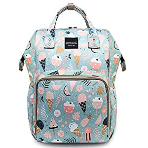 House of Quirk Baby Diaper Bag Maternity Backpack (Icecream Printed Blue)