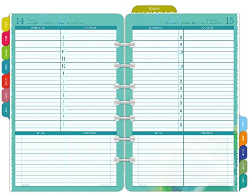k-Size Daily Planner Refill 2015, 5.5 x 8.5 Inches Page Size (09451) by Day-Timer (Daytimer Refills 2015)