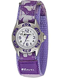 Ravel Kinder-Armbanduhr Ravel Children's Butterfly Strap Watch. Analog Nylon Mehrfarbig R1507.51