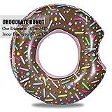 YOUYONGSR 107 Cm 42 Zoll Aufblasbare Donut Schwimmen Ring riesiger Pool schwimmen Wasser Spielzeug aufblasbare Matratze für Erwachsene Strand Meer Party Schokolade donut