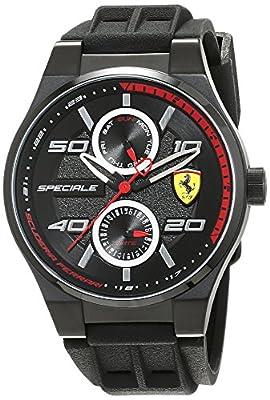 Reloj Scuderia Ferrari para Hombre 0830356, Negro (Negro/Plateado/Rojo) de Scuderia Ferrari