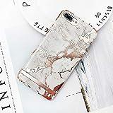 ZJHHH Cubierta Protectora Caja del teléfono de la impresión de mármol del lingote iPhone X XS MAX 7 6 6 S más Caso de la Cubierta de plástico Duro Casos para el iPhone 8 más