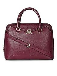 Da Milano LB-4205 Berry Leather Handbag