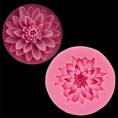 Chinget 3D Blumen Motive DIY Silikon Ausstechformen Muffin Torten Schokolade Keks Gelee Mini-Cupcake Blumen