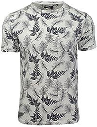 Brave Soul - T-shirt Homme Manches courtes Motifs fougères