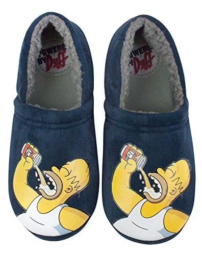 The Simpsons Powered By Duff Men's Slippers (S)